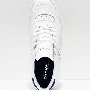 Diamond Supply Co. Shoes - Diamond Supply Co. Barca White Leather Skate Shoes